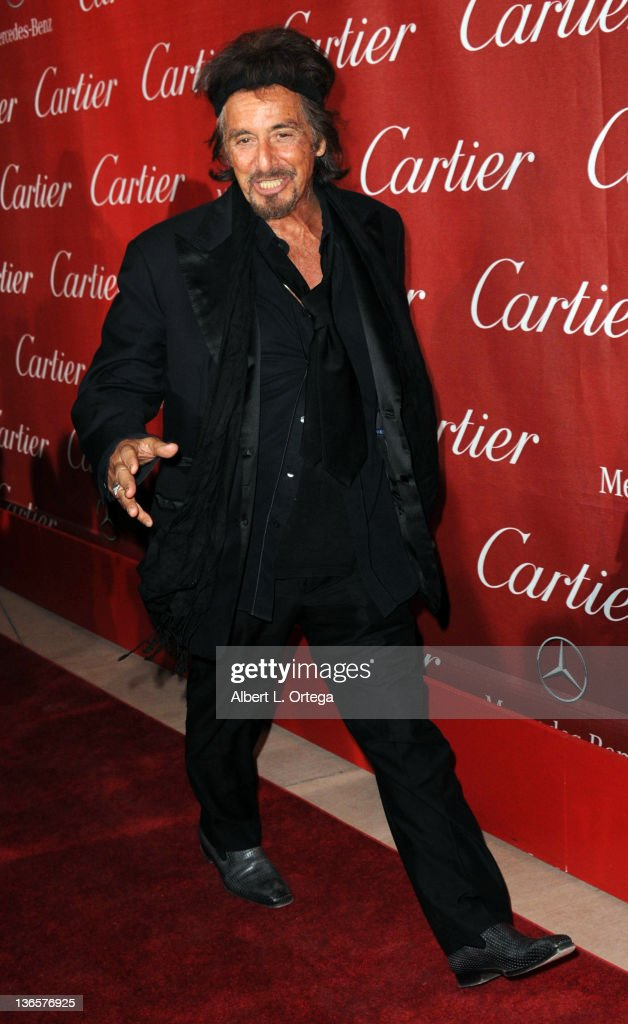 Actor Al Pacino arrives for The 2012 Palm Springs International Film Festival Awards Gala held at the Palm Springs Convention Center on January 7, 2012 in Palm Springs, California.