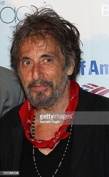Actor Al Pacino attends the 2010 Public Theater Gala at the Delacorte Theater on June 21 2010 in New York City