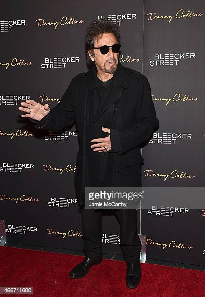 Actor Al Pacino attends the Danny Collins New York premiere at AMC Lincoln Square Theater on March 18 2015 in New York City
