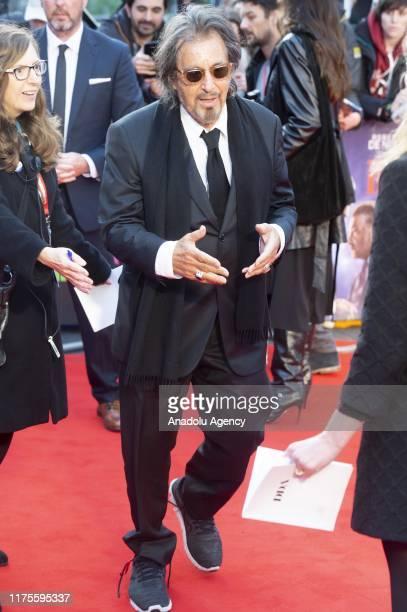 Actor Al Pacino attends the European film premiere of The Irishman in London United Kingdom on October 13 2019
