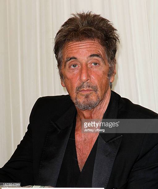 Actor Al Pacino attends the Glengarry Glen Ross Broadway Cast Photo Call at Ballet Hispanico on September 19 2012 in New York City