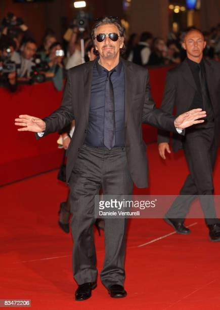 Actor Al Pacino attends the Marc'Aurelio Acting Award Red Carpet during the 3rd Rome International Film Festival held at the Auditorium Parco della...