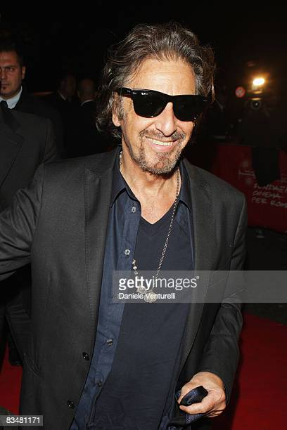Actor Al Pacino attends the Opening Ceremony Dinner Honoring Al Pacino during the 3rd Rome International Film Festival held at the Villa Medici on...