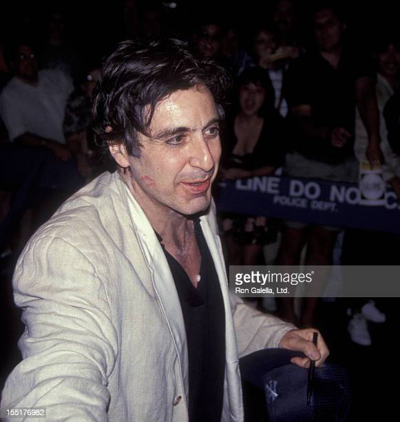 Actor Al Pacino attends the performance for 'Salome' on July 27 1992 at the Circle in the Square Theater in New York City