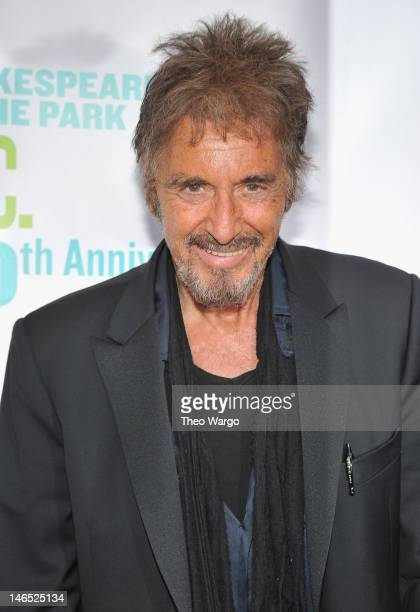 Actor Al Pacino attends the Public Theater 50th Anniversary Gala at Delacorte Theater on June 18, 2012 in New York City.
