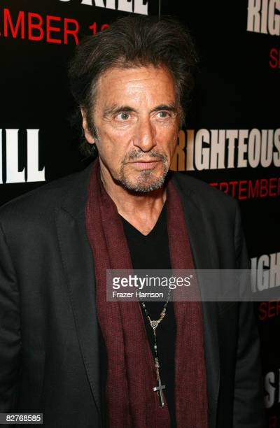 Actor Al Pacino attends The Righteous Kill premiere at the The Ziegfeld on September 10 2008 in New York City