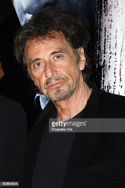 S actor Al Pacino attends the 'Righteous Kill' premiere at the Warner Cinema Moderno on September 16 2008 in Rome Italy