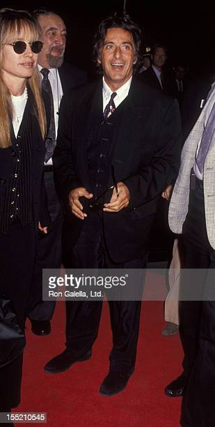 Actor Al Pacino attends the screening of Glengarry Glen Ross on September 14 1992 at the Ziegfeld Theater in New York City