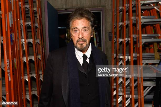 Actor Al Pacino backstage during American Film Institute's 45th Life Achievement Award Gala Tribute to Diane Keaton at Dolby Theatre on June 8 2017...