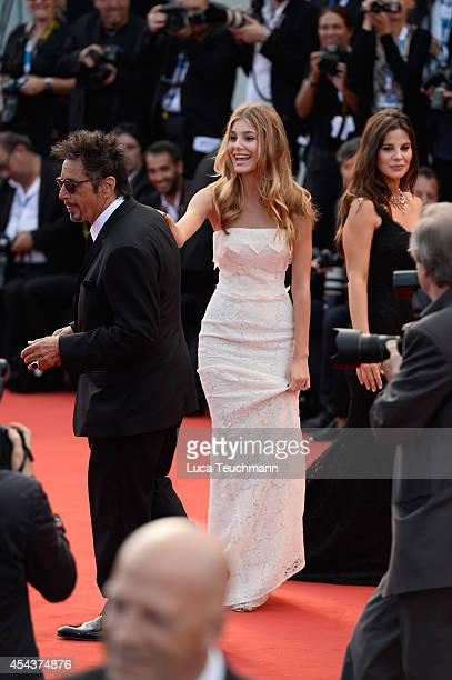 Actor Al Pacino girlfriend Lucila Sola and her daughter Camila Sola attend 'Manglehorn' Premiere during the 71st Venice Film Festival at Sala Grande...