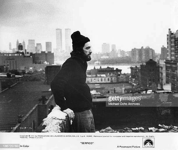 Actor Al Pacino in a scene from the Paramount Pictures movie 'Serpico' in 1973 in New York City, New York.
