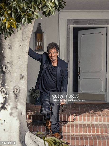 Actor Al Pacino is photographed at his home for Paris Match on February 24, 2015 in Los Angeles, California.