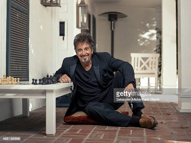 Actor Al Pacino is photographed at his home for Paris Match on February 24 2015 in Los Angeles California