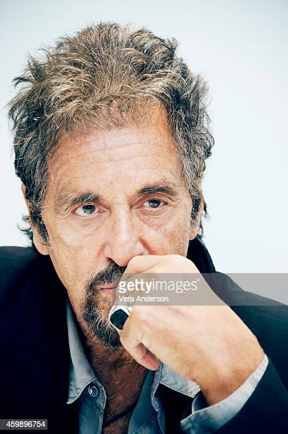 "Actor Al Pacino is photographed at the press conference for ""Manglehorn"" at the Four Seasons hotel on November 13, 2014 in Beverly Hills, California...."