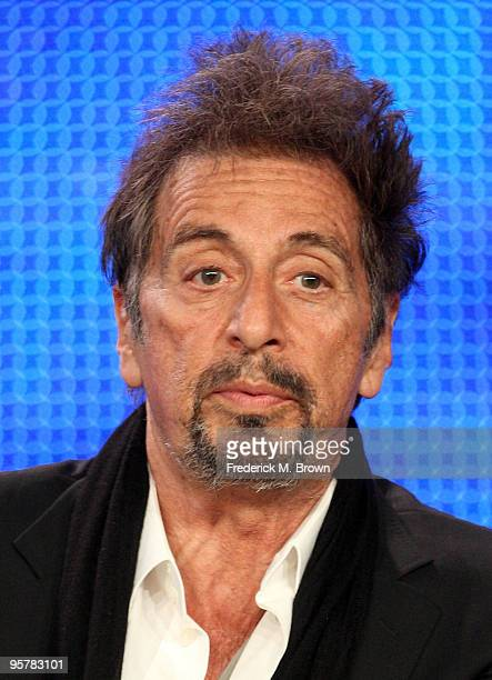 Actor Al Pacino of You Don't Know Jack speak during the HBO portion of the 2010 Television Critics Association Press Tour at the Langham Hotel on...