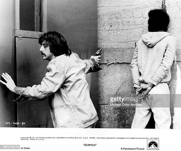 Actor Al Pacino on set of the Paramount Pictures movie 'Serpico' in 1973