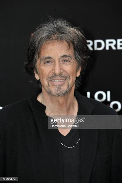 Actor Al Pacino poses during a photocall for the Jon Avnet's film 'Righteous Kill' on September 15 2008 in Paris France