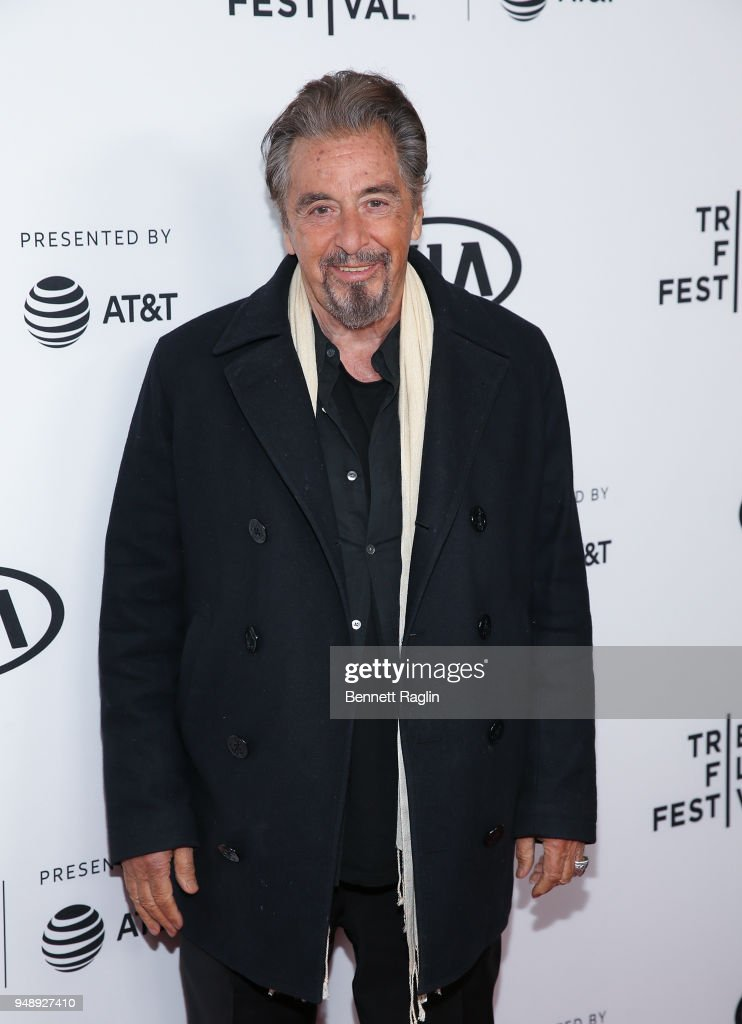 Actor Al Pacino poses for a picture during the 2018 Tribeca Film Festival 'Scarface' reunion at the Beacon Theatre on April 19, 2018 in New York City.