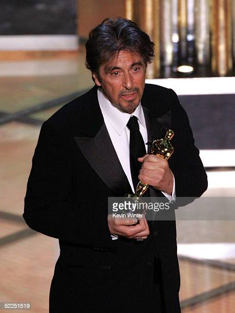 TELECAST*** Actor Al Pacino present an award on stage during the 77th Annual Academy Awards on February 27 2005 at the Kodak Theater in Hollywood...