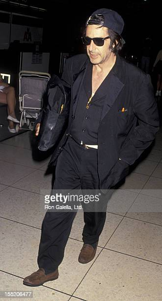 Actor Al Pacino sighted on August 19 1994 at the Los Angeles International Airport in Los Angeles California