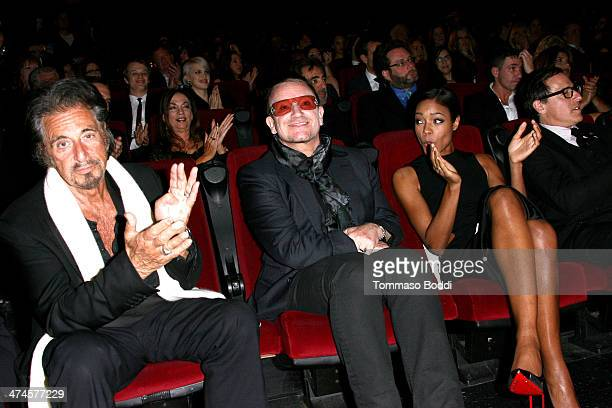 Actor Al Pacino singer Bono actress Naomie Harris and director David O Russell attend the 9th annual Los Angeles Italia Film Fashion and Art Fest...