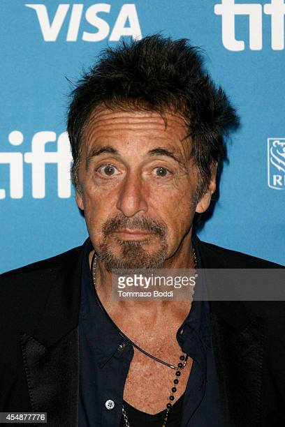 Actor Al Pacino speaks at the 'Manglehorn' press conference during the 2014 Toronto International Film Festival at TIFF Bell Lightbox on September 7...