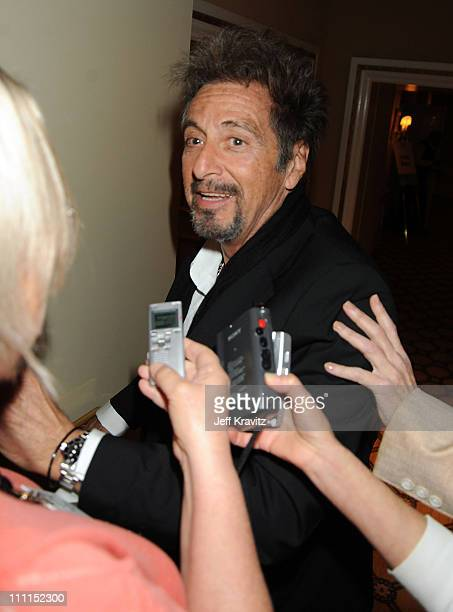 Actor Al Pacino speaks during the HBO portion of the 2010 Television Critics Association Press Tour at the Langham Hotel on January 14, 2010 in...