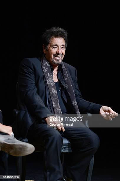 Actor Al Pacino speaks onstage for a private Q A at TIFF Bell Lightbox on September 3 2014 in Toronto Canada