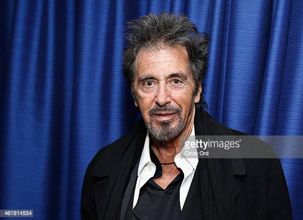 Actor Al Pacino visits the SiriusXM Studios on January 21, 2015 in New York City.