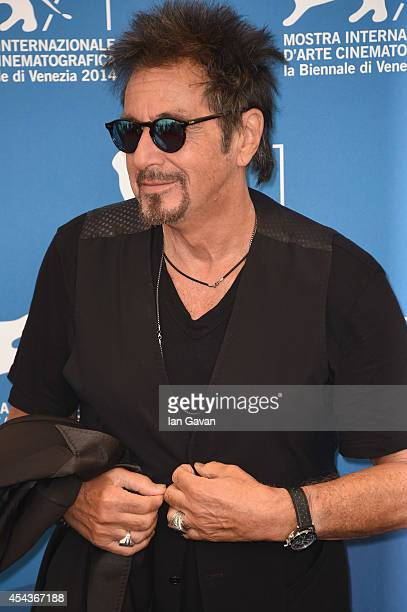 Actor Al Pacino wearing a Jaeger-LeCoultre Deep Sea Vintage watch attends the 'The Humbling' the photocall during the 71st Venice Film Festival at...