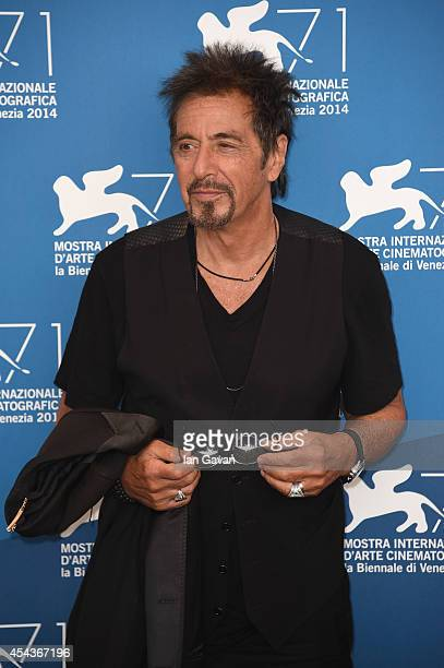 Actor Al Pacino wearing a JaegerLeCoultre Deep Sea Vintage watch attends the 'The Humbling' the photocall during the 71st Venice Film Festival at the...