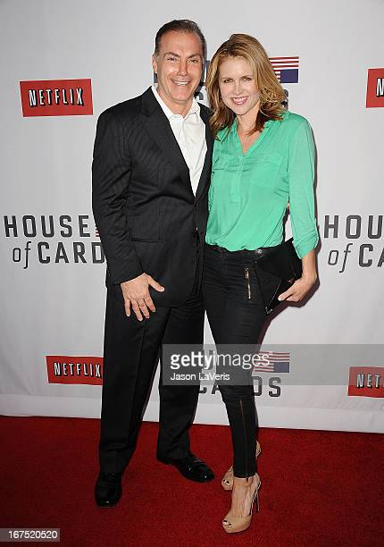 Actor Al Sapienza and actress Laurie Fortier attend a QA for House Of Cards at Leonard H Goldenson Theatre on April 25 2013 in North Hollywood...