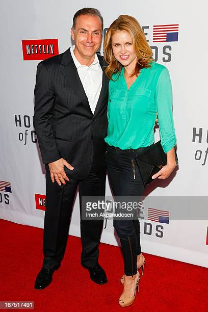 Actor Al Sapienza and actress Laurie Fortier attend Netflix's 'House Of Cards' For Your Consideration QA Event at Leonard H Goldenson Theatre on...