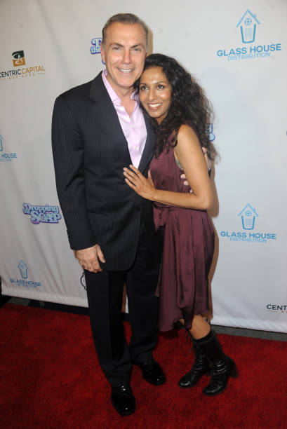 Actor Al Sapienza and actress Rekha Sharma arrive for the Premiere Of Glass House Distributions` `Dropping The Soap` held at Writers Guild Theater on.