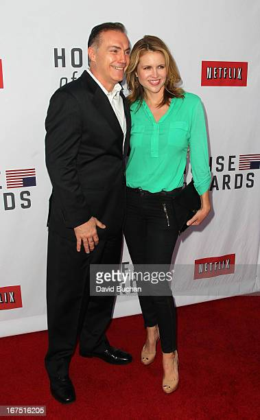 Actor Al Sapienza and Laurie Fortier attend Netflix's House Of Cards For Your Consideration QA Event at Leonard H Goldenson Theatre on April 25 2013...
