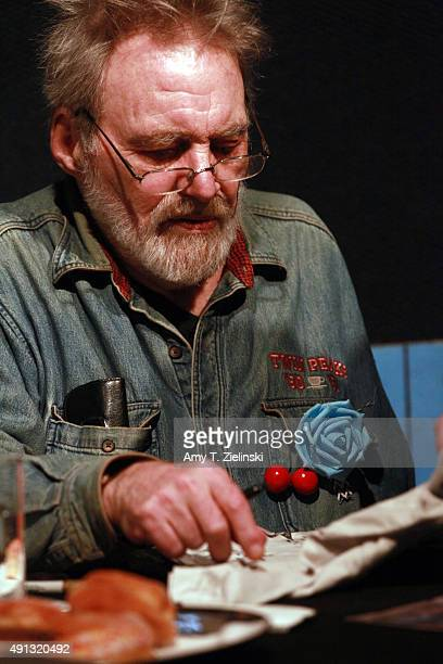 Actor Al Strobel who played on the TV series Twin Peaks the character Mike the 'onearmed man' signs autographs during the sixth annual Twin Peaks UK...