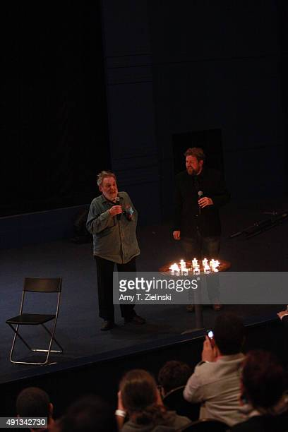 Actor Al Strobel who played on the TV series Twin Peaks the character Mike the Ôonearmed manÕ lights the Fire Walk With Me cancles as he attends a QA...
