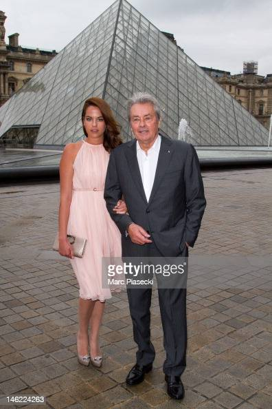 Actor Alain Delon and ...