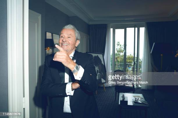 Actor Alain Delon attends the 72nd Cannes Film Festival 2019 who was honored with the Golden Palm for his acting career is photographed for Paris...