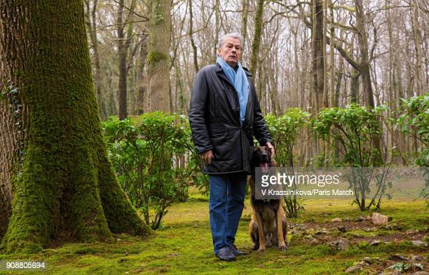 Actor Alain Delon is photographed for Paris Match at his villa at Douchy Val de Loire on December 19 France