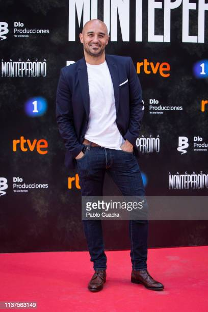 Actor Alain Hernandez attends the 'La Caza Monteperdido' photocall on March 22 2019 in Madrid Spain