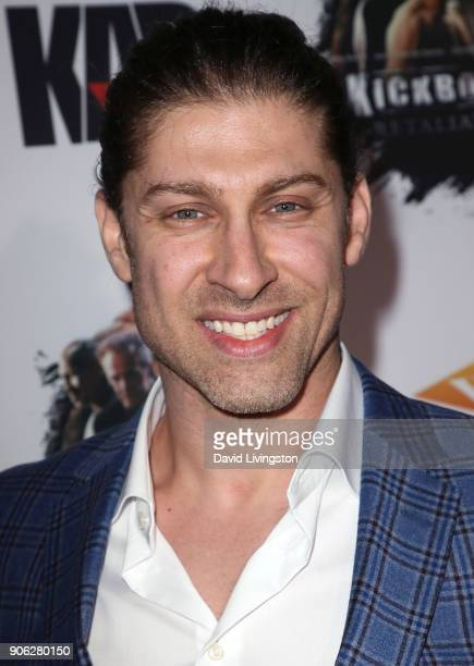 Actor Alain Moussi attends the premiere of Well Go USA Entertainment's 'Kickboxer Retaliation' at ArcLight Cinemas on January 17 2018 in Hollywood...