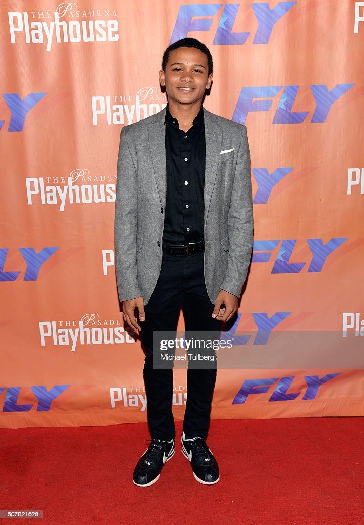 Actor Alaman Diadhiou attends the opening night of the play 'Fly' at Pasadena Playhouse on January 31, 2016 in Pasadena, California.
