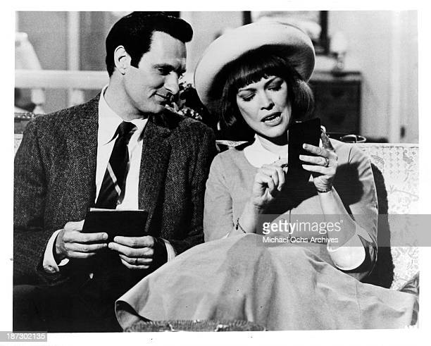 Actor Alan Alda and actress Ellen Burstyn on set of the Universal Studios movie 'Same Time Next Year' in 1978