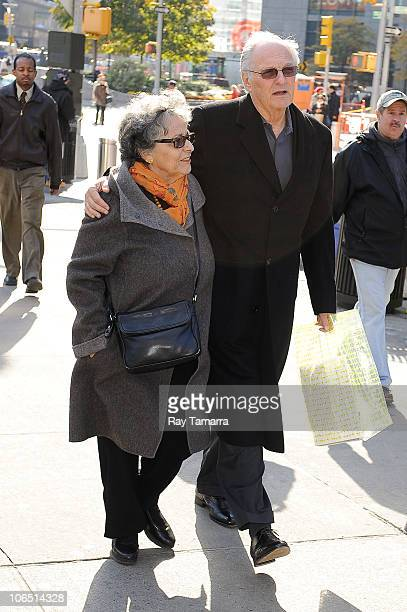Actor Alan Alda and his wife Arlene Alda walk in Midtown Manhattan on November 3 2010 in New York City