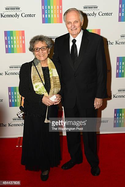 Actor Alan Alda and wife Arlene arrive at a special dinner for Kennedy Center honorees and guests at the State Department in Washington DC on...