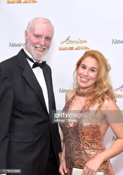 """Actor Alan Brent and Actor Ariel Michael attend the premiere of the film """"Never Alone"""" at Arena Cinelounge on October 04, 2019 in Hollywood,..."""
