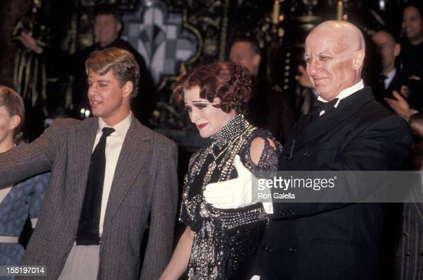 Actor Alan Campbell actress Glenn Close and actor George Hearn performed in 'Sunset Blvd' Opening Night Performance on November 17 1994 at the...