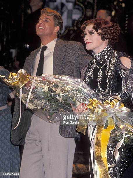 Actor Alan Campbell and actress Glenn Close performed in 'Sunset Blvd' Opening Night Performance on November 17 1994 at the Minskoff Theatre in New...