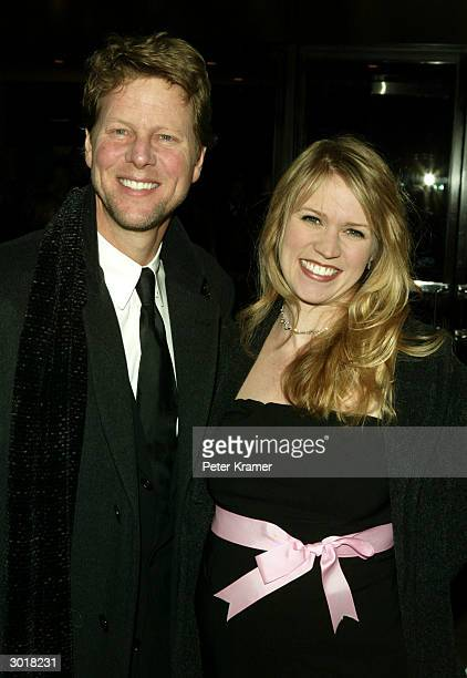 Actor Alan Campbell and wife Lauren attend the play opening of 'Fiddler on the Roof' February 26 2004 in New York City